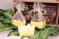 12 pcs-Tray Favor Box (Yellow)