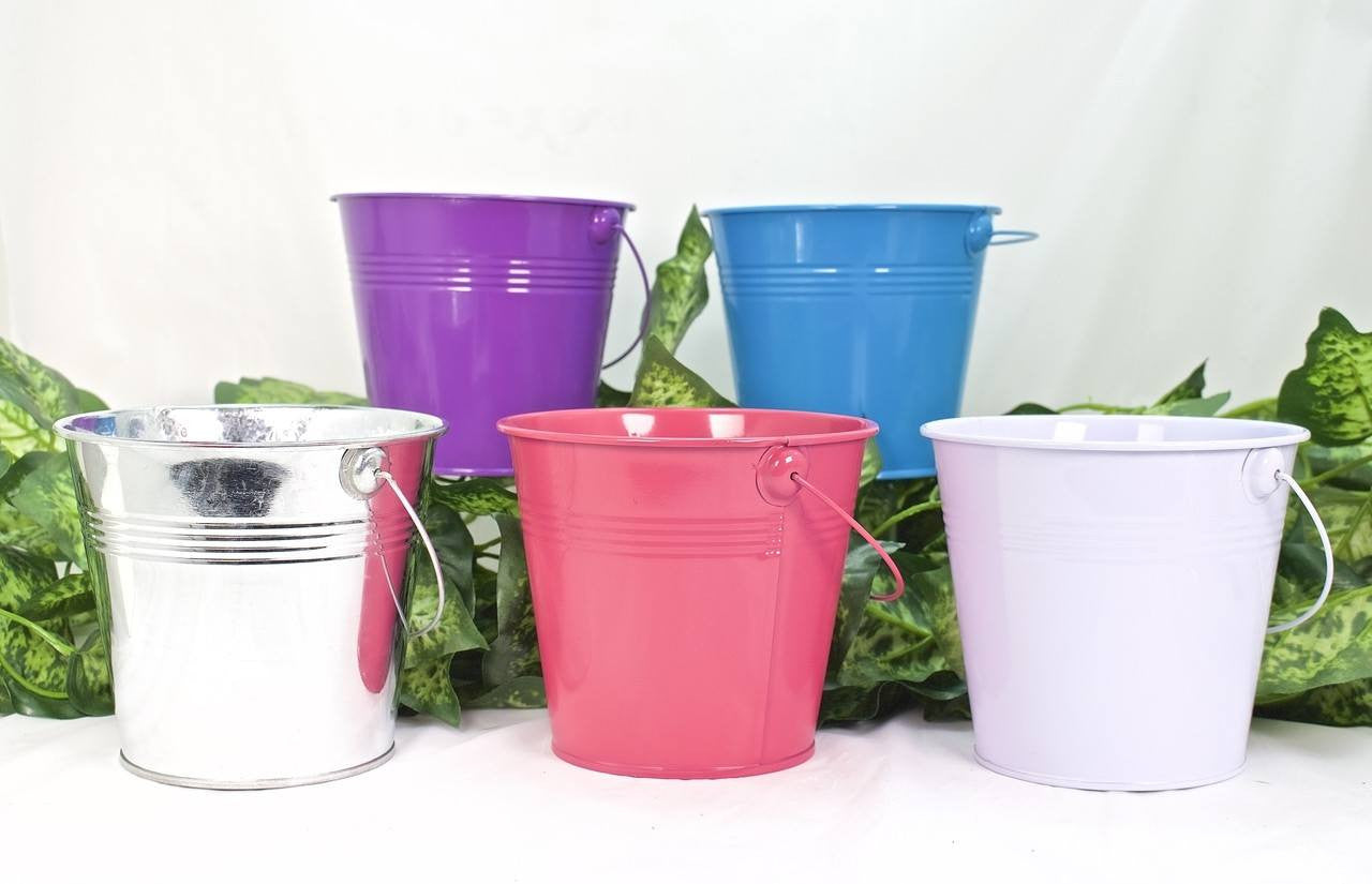 1 pc-Metal Bucket (Variety Color)