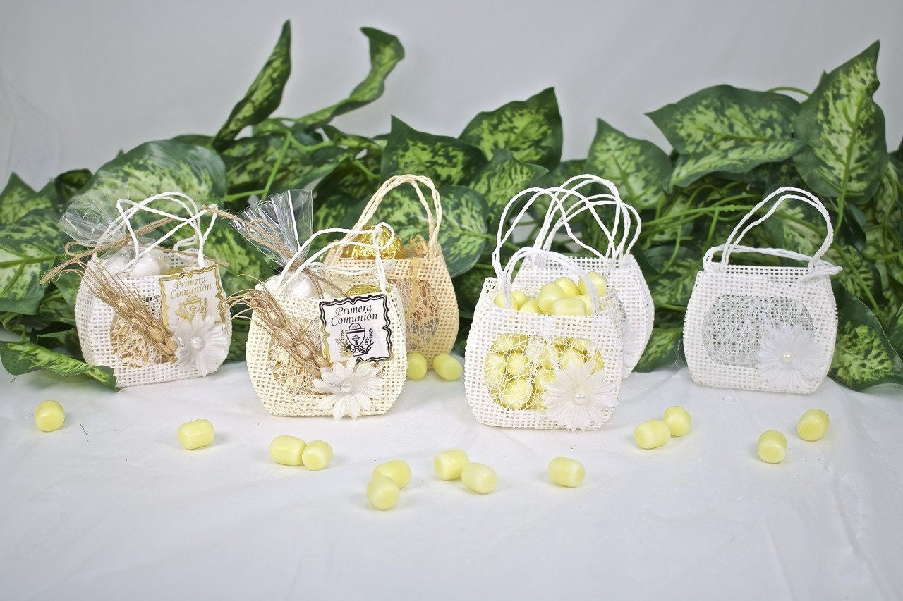 12 pcs-Daisy Purse Favor Bag
