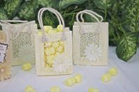 12 pcs-Square Tote Bag w/ Mesh