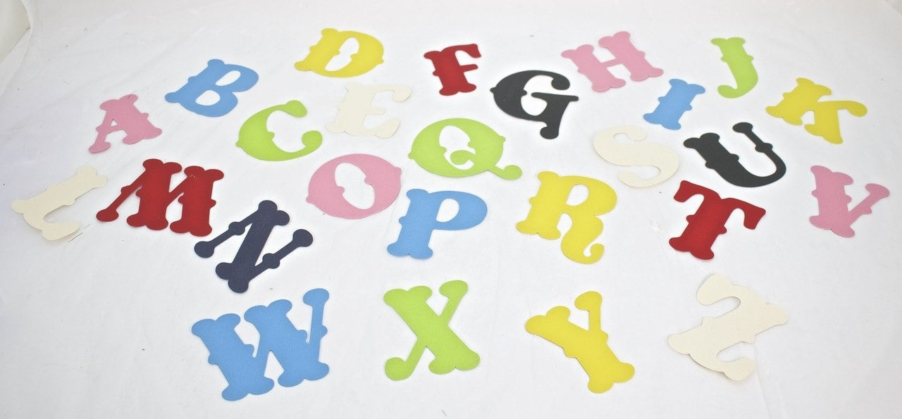 1 piece-Paper Letters (Yellow)