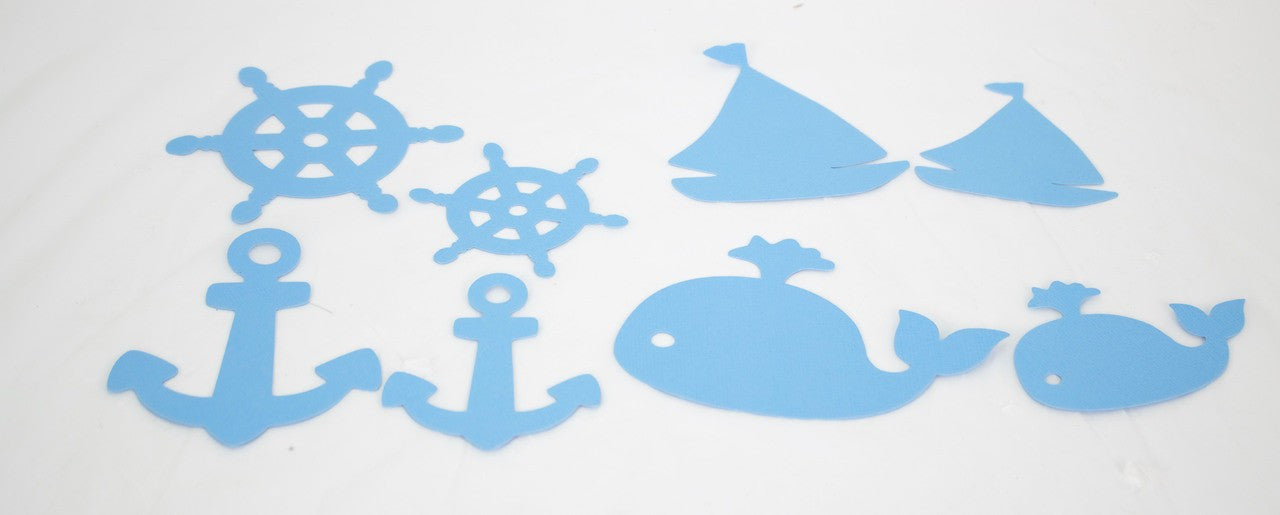 1 piece- Nautical Die-Cuts (Blue)