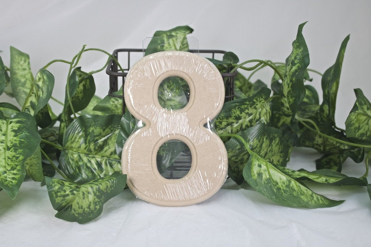 "1pc- 6"" Wooden Number ""8"""