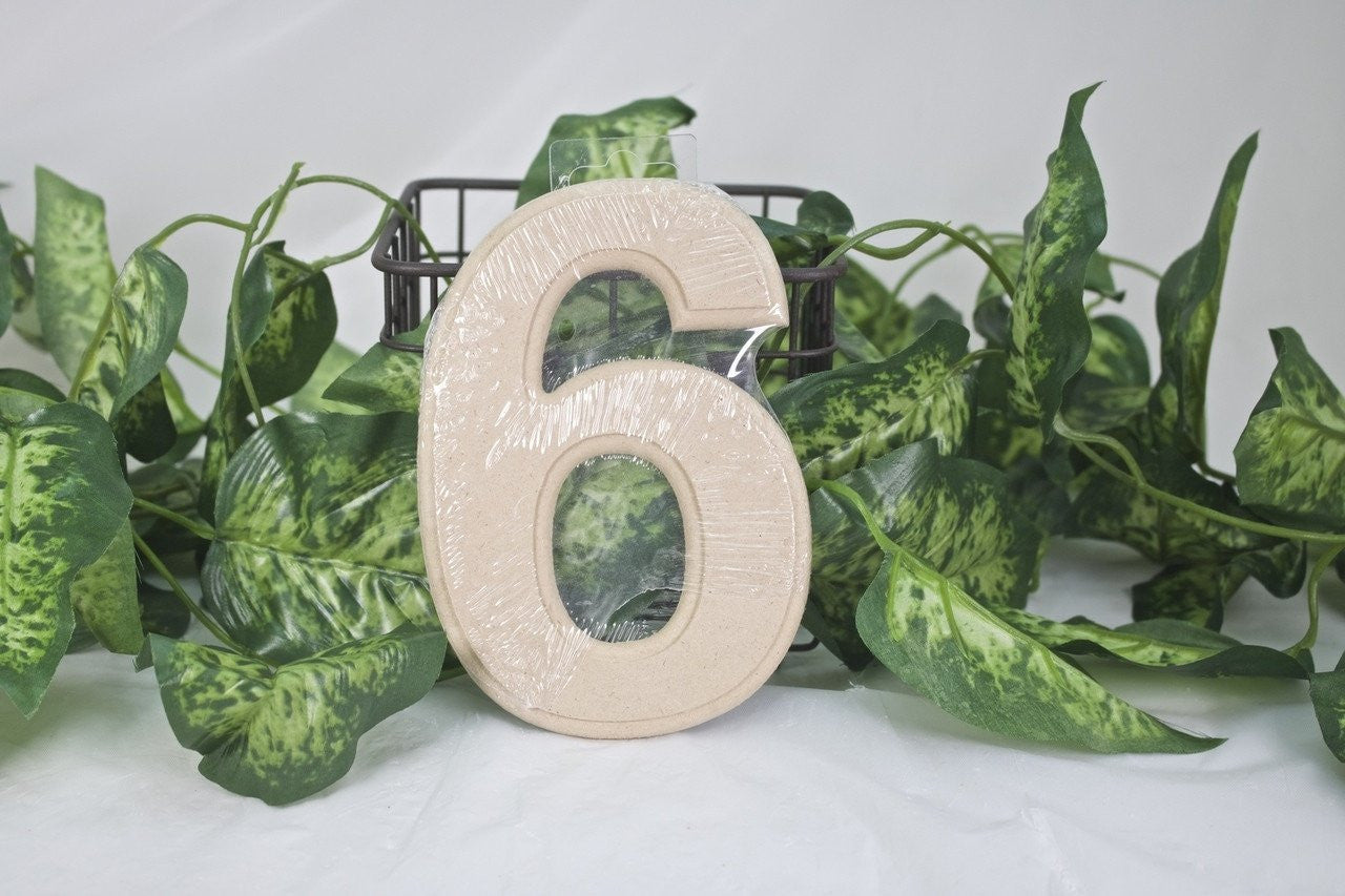 "1pc- 6"" Wooden Number ""6"""