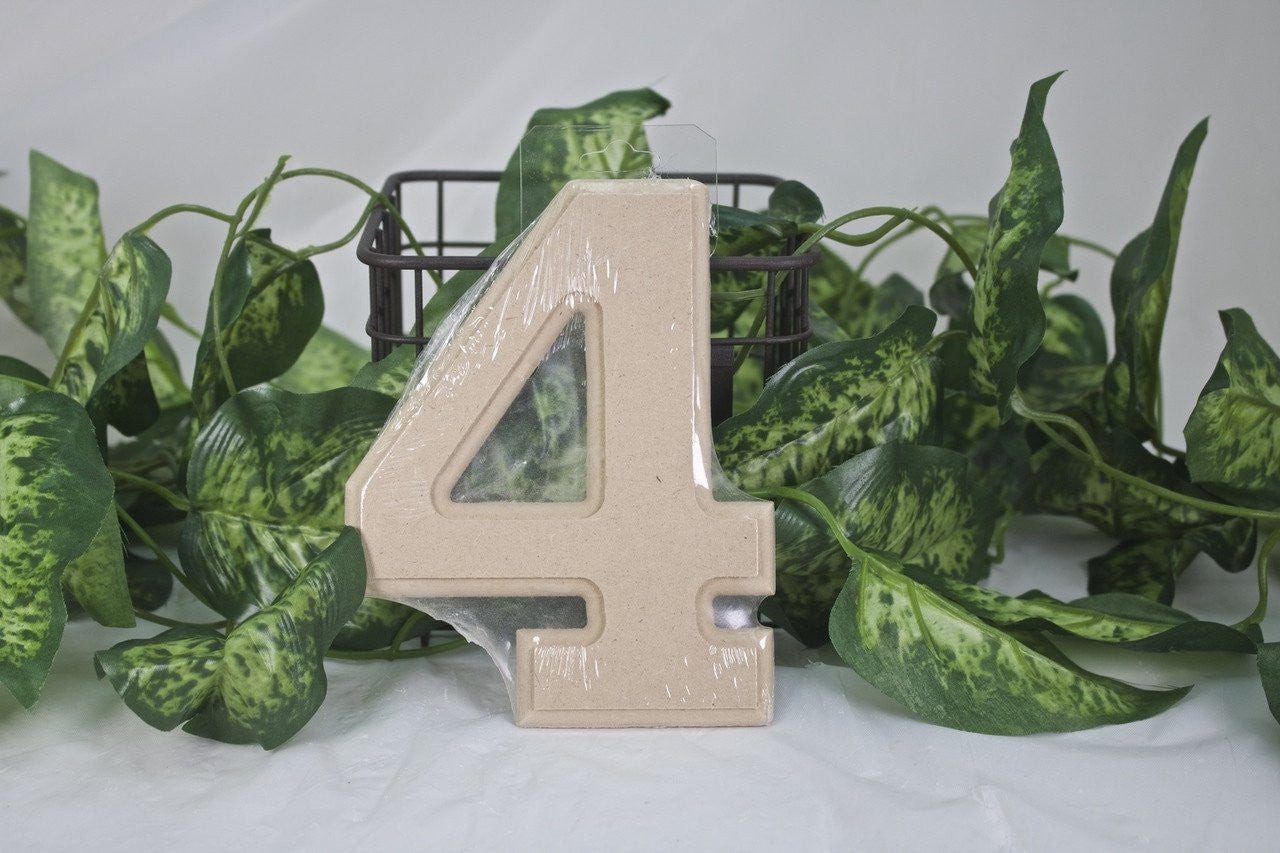 "1pc- 6"" Wooden Number ""4"""