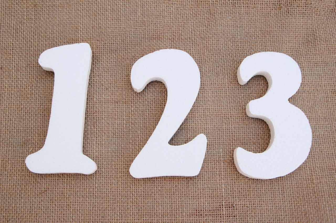 "8"" Foam Numbers (0 thru 9)"