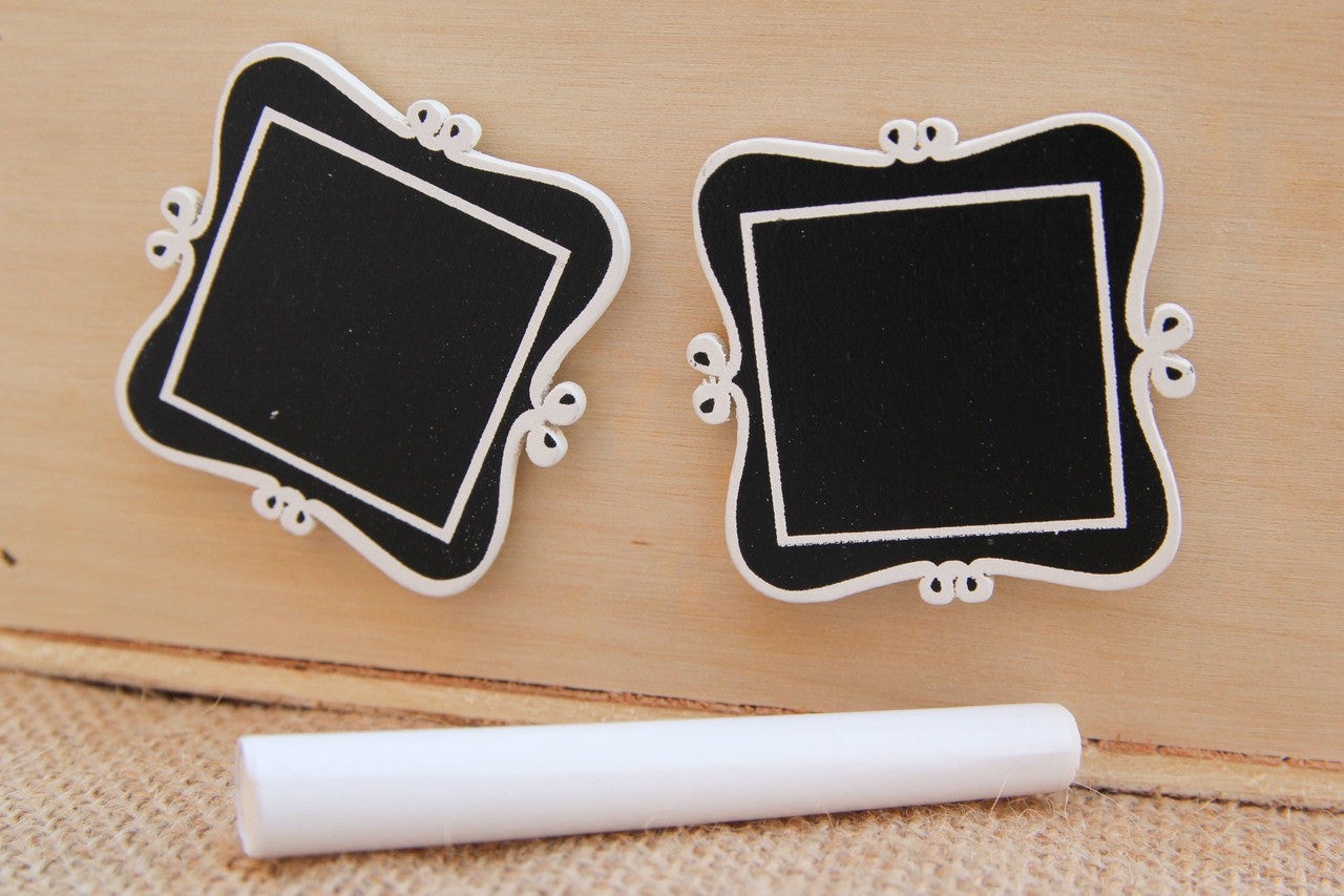 "6 pcs- 2"" Chalkboard Frame with Adhesive"