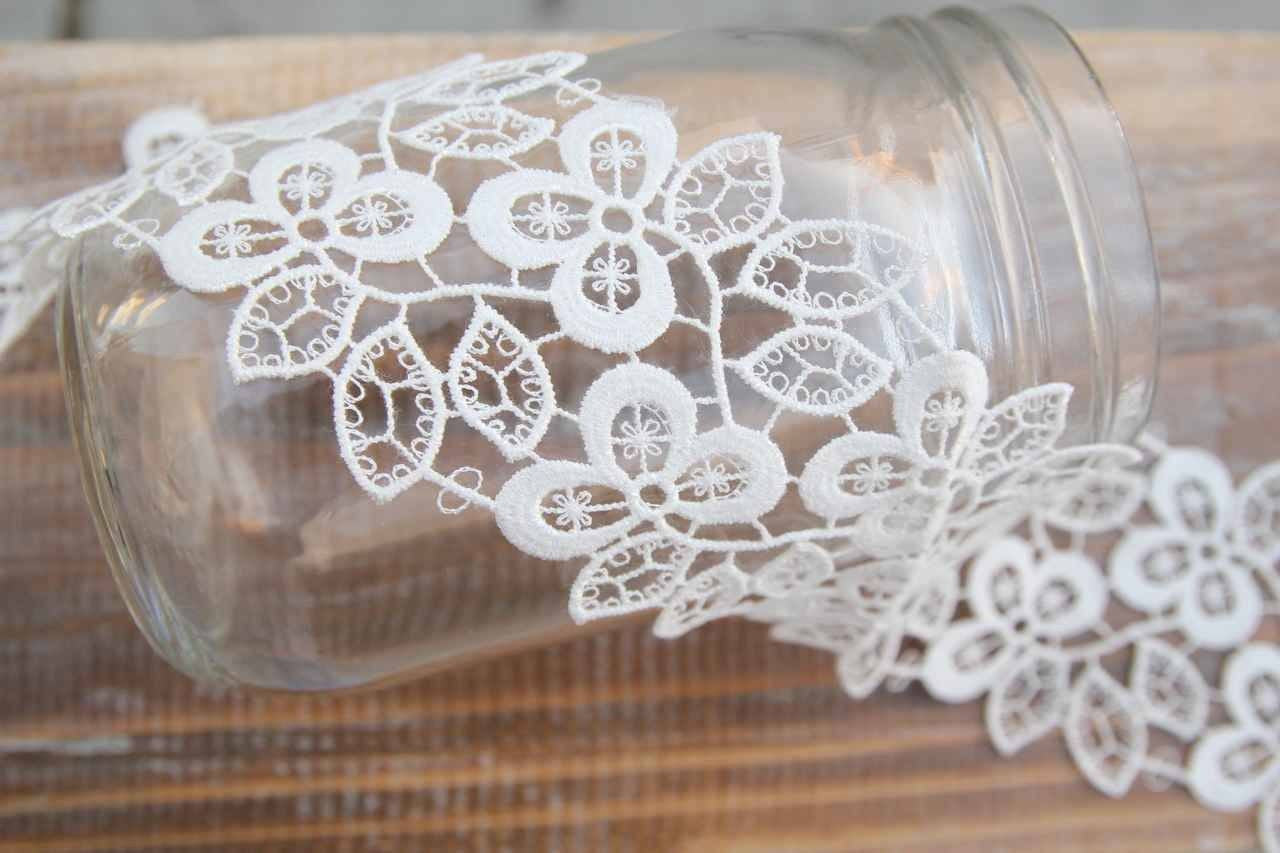 "3 yards- 2.5"" Endless Daisy lace"