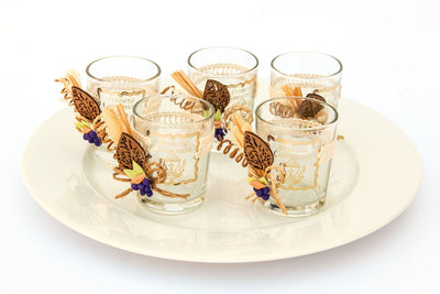 1 pc- First Communion Wheat & Grape Glass Containers