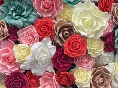 "1 pc- 9.5"" Rose Flower Foam (Multiple Colors)"