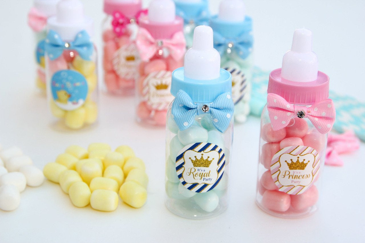 Baby Shower Prince/Princess Baby Bottle Favor