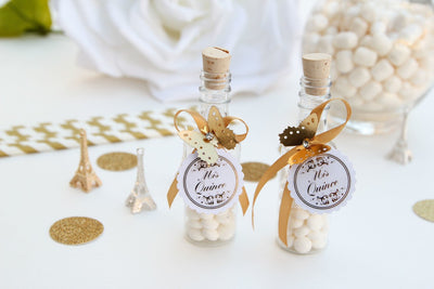 Mis Quinces Butterfly Long Bottle Favors