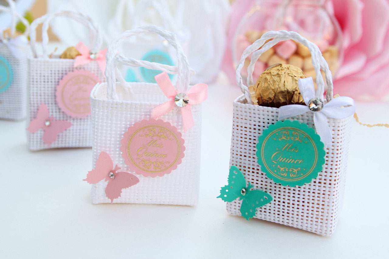 Mis Quinces Butterfly Tote Favor Bags