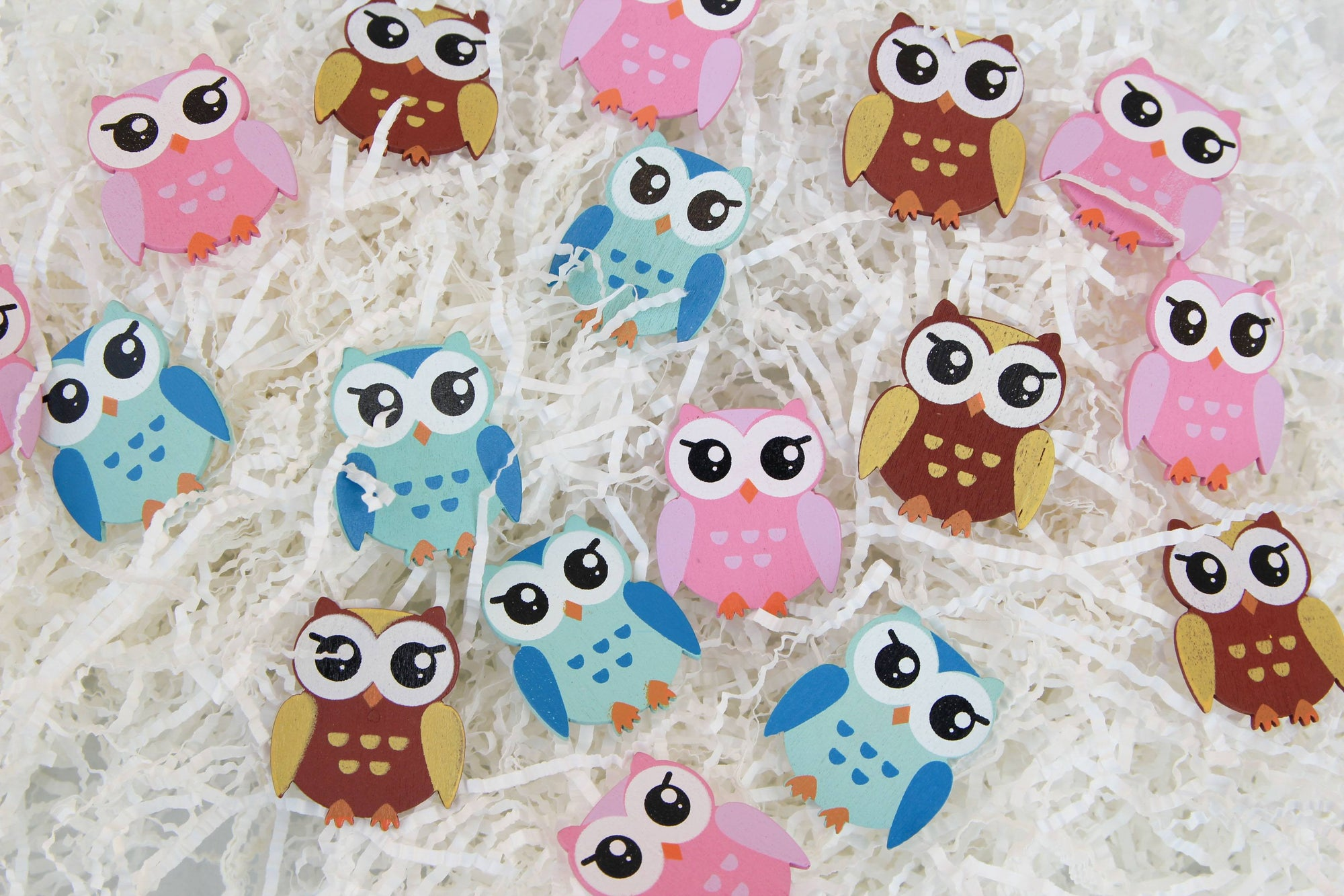 Owl Wood Embellishments (12 pieces) - Americasfavors