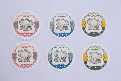 Adorable Elephant Stickers (24 Pieces) - Americasfavors