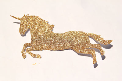 Gold Glitter Unicorn Diecuts (4 pieces)