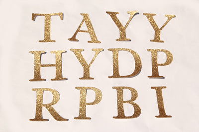 Gold Letter Diecuts (1 piece)