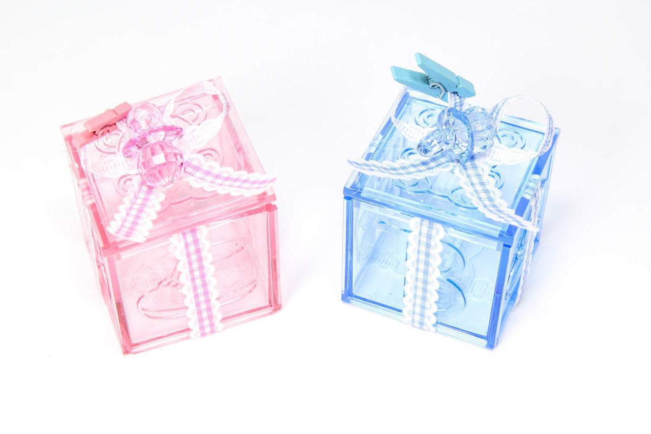 12 pcs-Acrylic Baby Blocks with Designs