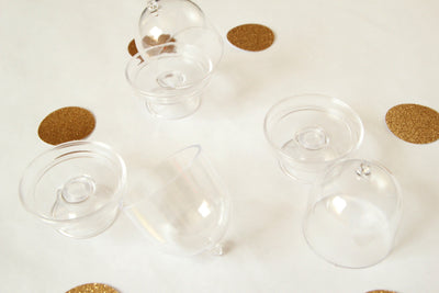 Acrylic Clear Cake Stand with Lids (12 pieces)