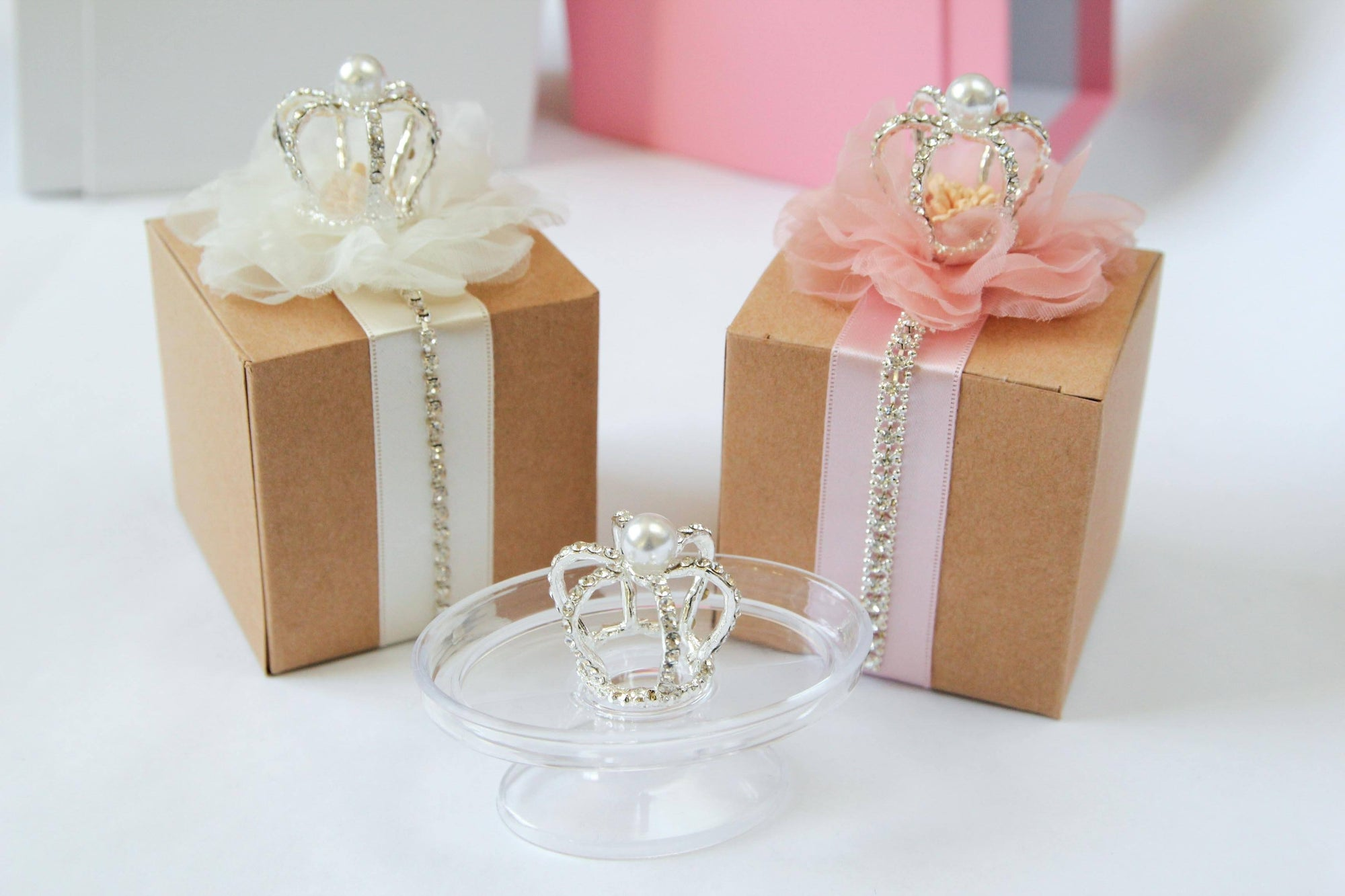 Rhinestone Crown with Pearl