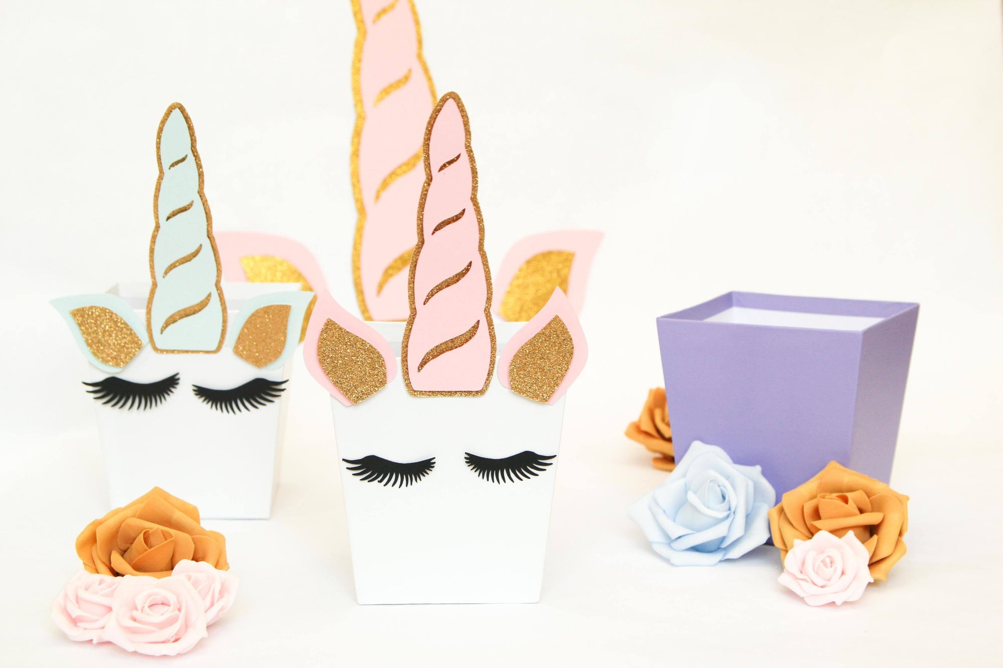 Unicorn Horn, Ears & Eyelash Decoration Die-cuts (1 set)