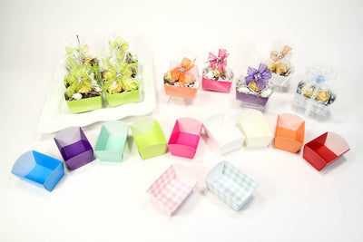 12 pcs-Tray Favor Box (Aqua)
