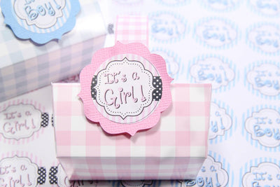 "24 pcs-""It's a Boy!"" and ""It's a Girl!"" stickers"