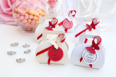 Mis Quince Butterfly Purse Favor Boxes