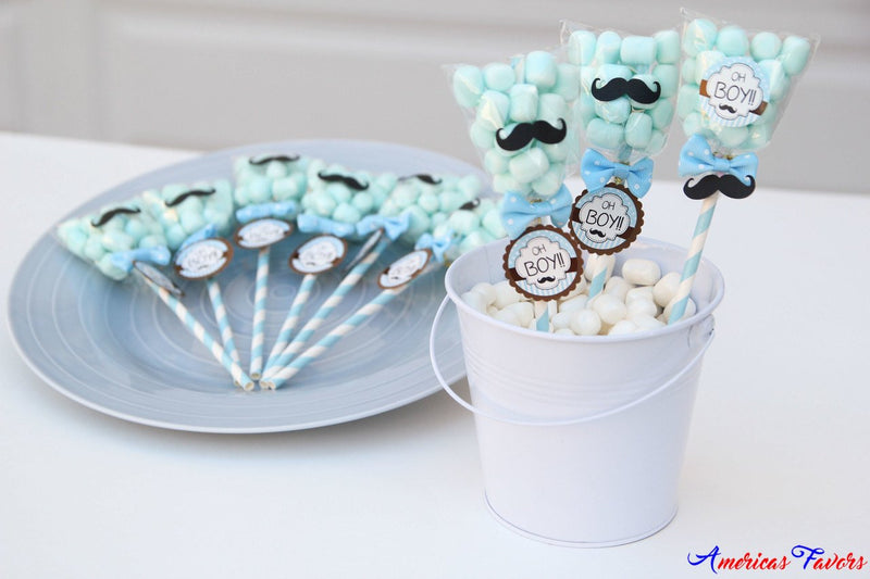 Baby shower mustache candy pop party favors americasfavors baby shower mustache candy pop party favors negle
