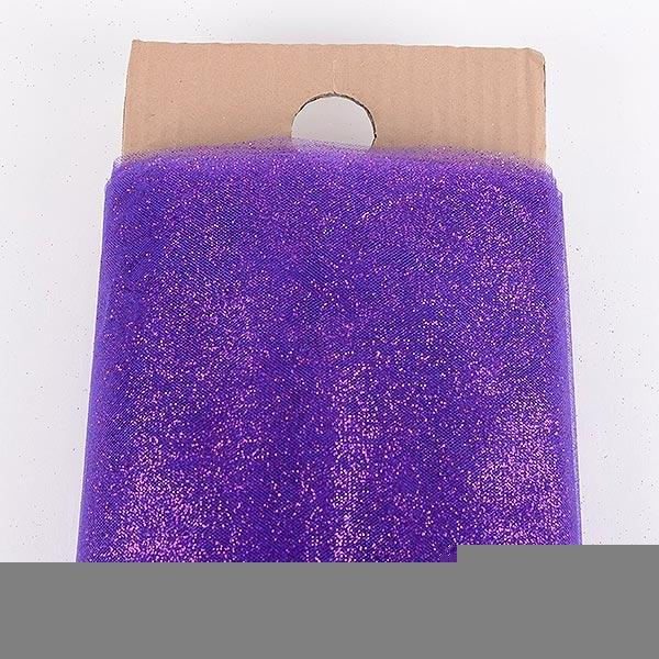 "Purple Glitter Tulle 54"" x 10 Yards"