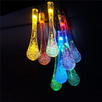 LED Solar Powered String Water Droplets Lights Outdoor Decoration (30 LED with 8 Modes)