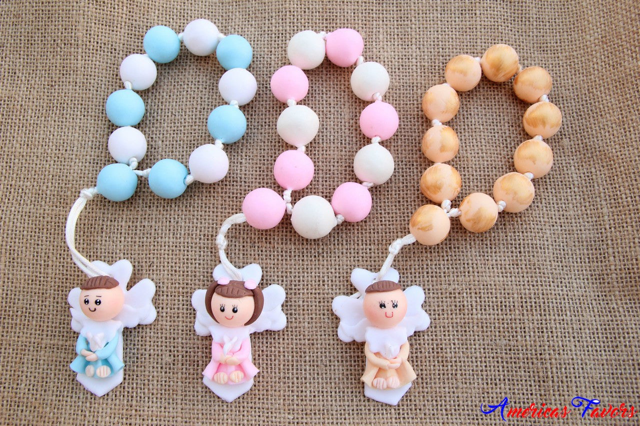 "1 pc- 9"" Flowered Angel Rosaries"