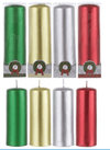 "Christmas 5"" Unscented Long Candles Red, White, Green or Silver (1 piece)"
