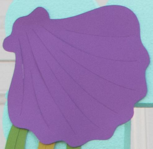 "5"" Purple Shells Die-cuts (4 pieces)"