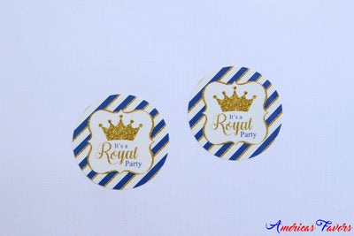 "24 pcs- ""It's a Royal Party"" Stickers"