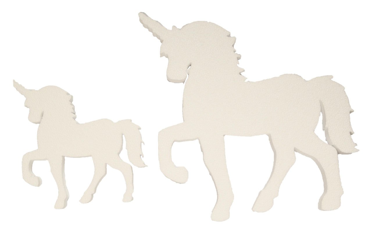 Foam Unicorn for Centerpieces & Backdrops, Small or Large (1 piece)