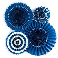 4 ct. - Party Paper Fans (Navy)