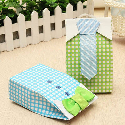 Baby Shower Shirt with Bow-tie & Shirt with Tie Favor Boxes (12 pieces) - Americasfavors