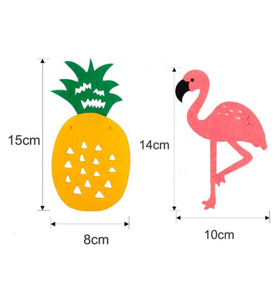 1 Ct- Flamingo, Pineapple & Leaves Tropical Theme Party Banner Decoration