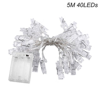 20/40 LED Photo Clip String Fairy Lights (Battery Operated)
