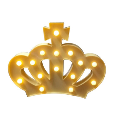 LED Crown Light for Walls, Tables, Backdrop & Desks  (White, Yellow, Pink) (Battery Operated)