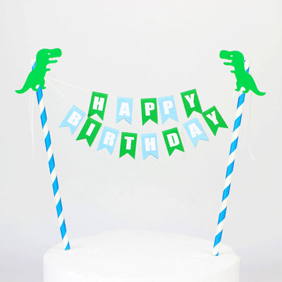 Dinosaur Happy Birthday Cake Topper Party Decorations