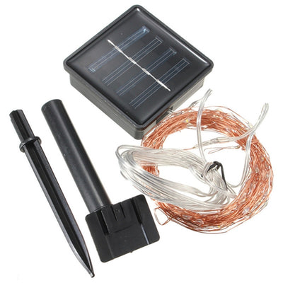 Outdoor Solar Powered LED String Lights 20M & 10M Waterproof Fairy Lights