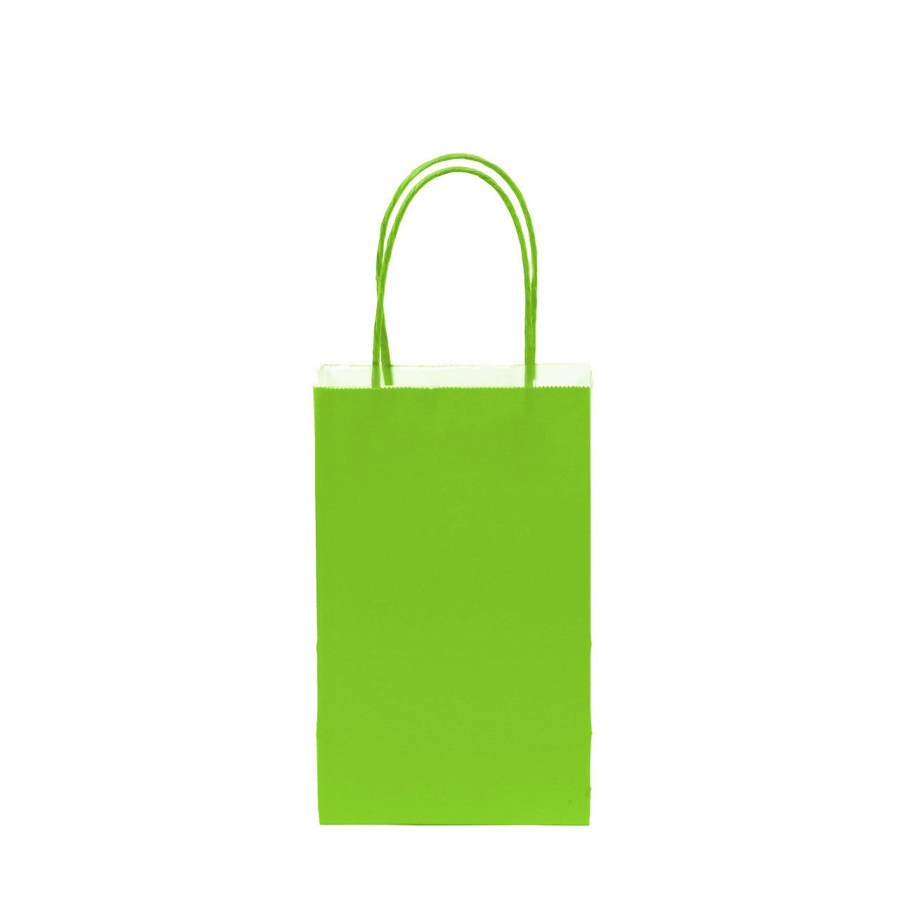 "12 pcs- Solid Lime Green Color Kraft Bag 5"" x 8.25"""