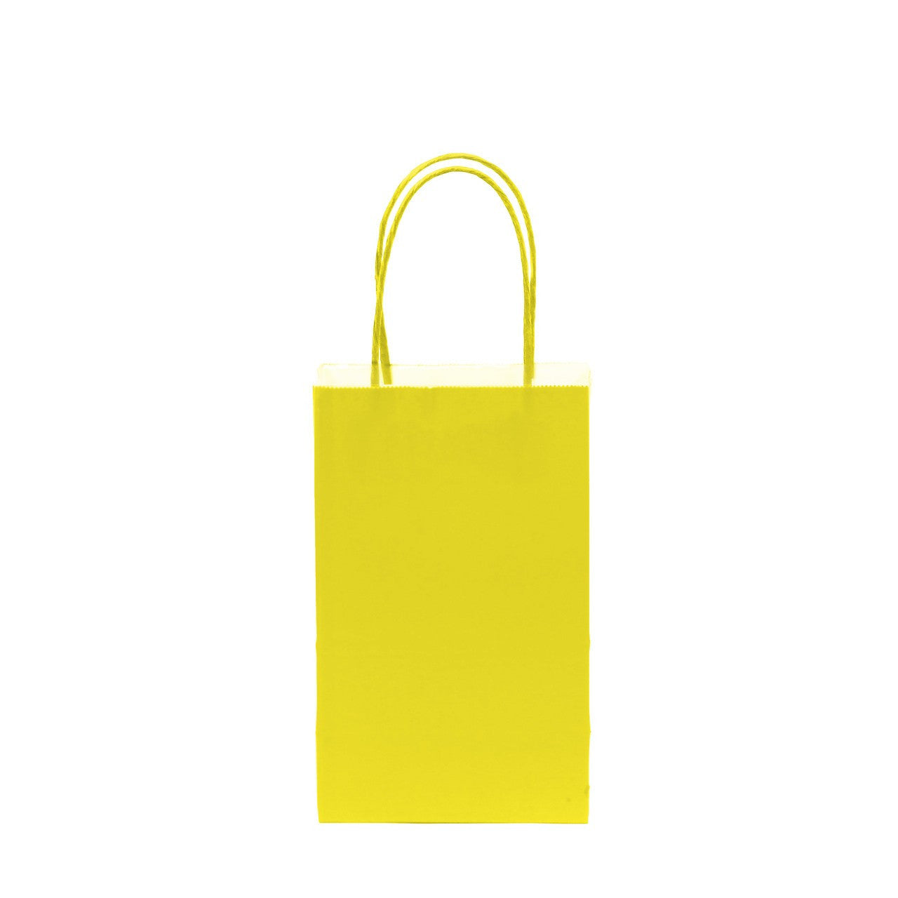 "12 pcs- Solid Yellow Color Kraft Bag 5"" x 8.25"""