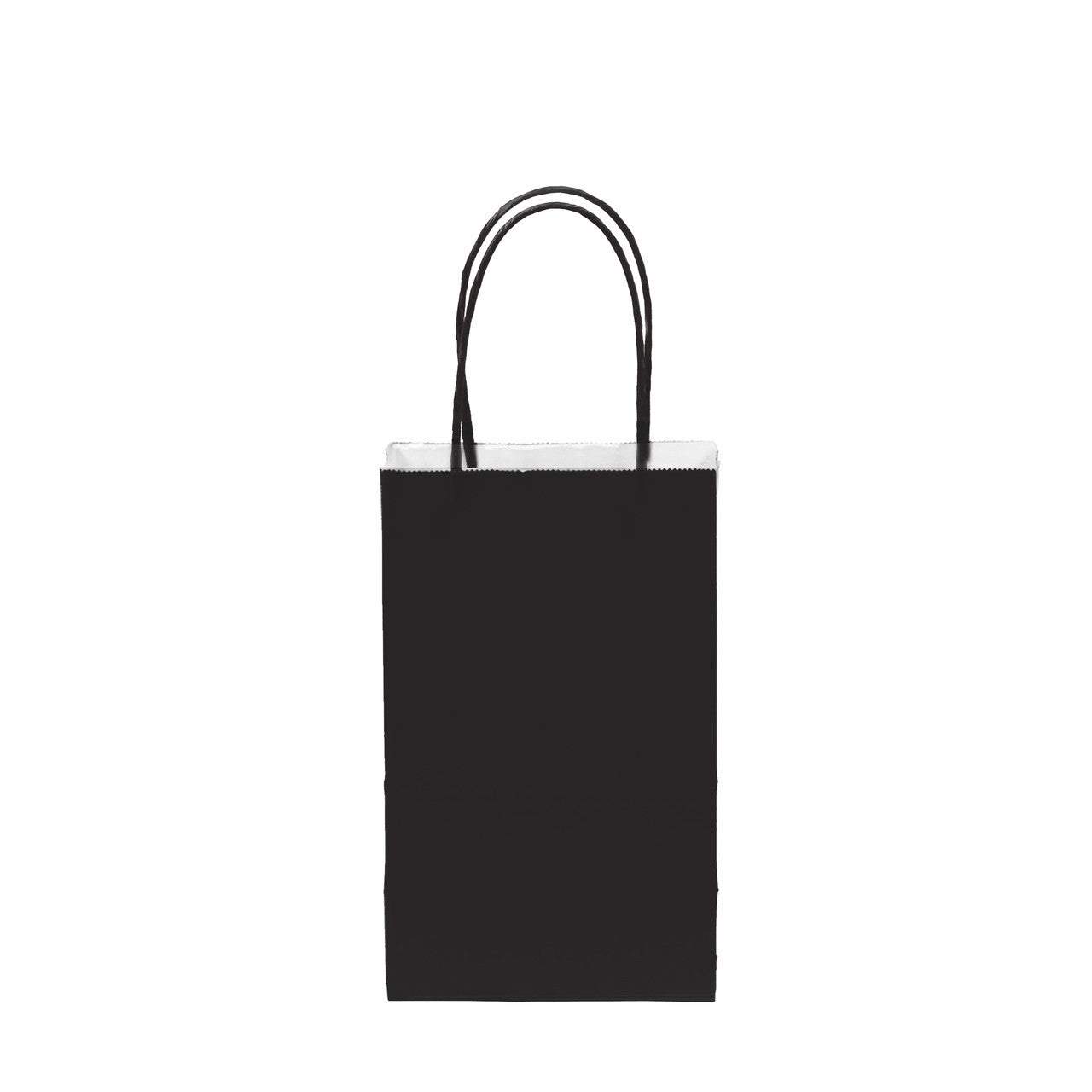 "12 pcs- Solid Black Color Kraft Bag 5"" x 8.25"""