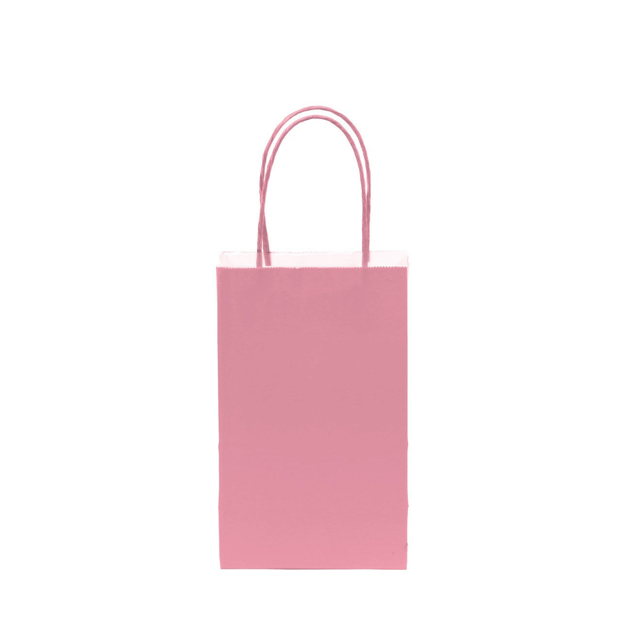 "12 pcs- Solid Light Pink Color Kraft Bag 5"" x 8.25"""