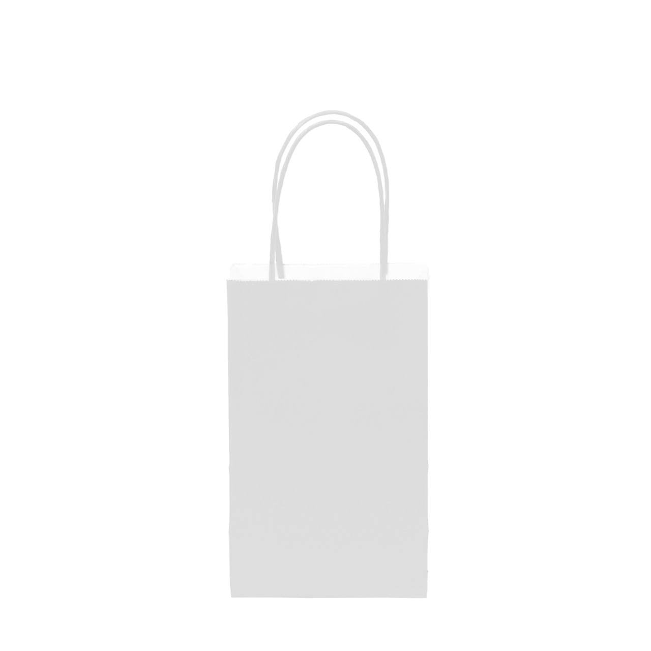 "12 pcs- Solid White Color Kraft Bag 5"" x 8.25"""