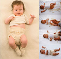 Tie Knitted Nappy - Disana Organic Cotton 3 Pack