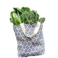 Jute Grocery Bag- Diamond Navy